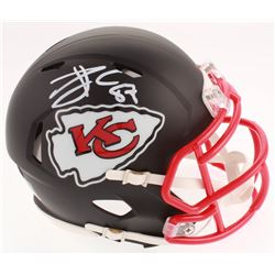 Travis Kelce Signed Kansas City Chiefs Matte Black Speed Mini Helmet (Beckett COA)