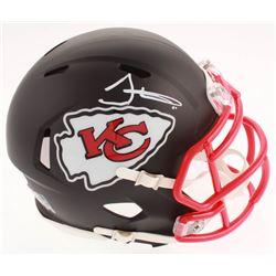 Tyreek Hill Signed Kansas City Chiefs Matte Black Speed Mini Helmet (JSA COA)