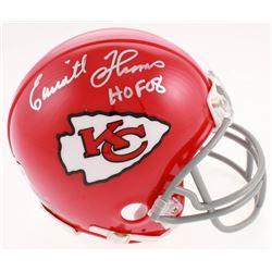 "Emmitt Thomas Signed Kansas City Chiefs Mini Helmet Inscribed ""HOF 08"" (Jersey Source Hologram)"