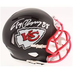 Tony Gonzalez Signed Kansas City Chiefs Matte Black Speed Mini Helmet (Beckett COA)