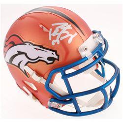 Peyton Manning Signed Denver Broncos Blaze Speed Mini Helmet (Fanatics Hologram)
