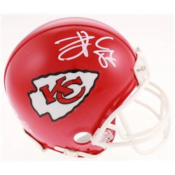 Travis Kelce Signed Kansas City Chiefs Mini Helmet (Beckett COA)