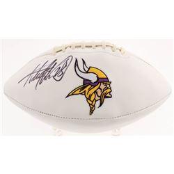 Adrian Peterson Signed Minnesota Vikings Logo Football (Beckett COA)