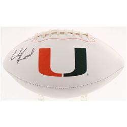 Ed Reed Signed Miami Hurricanes Logo Football (Beckett COA)