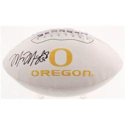 Marcus Mariota Signed Oregon Ducks Logo Football (Mariota Hologram)