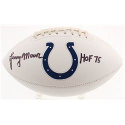 "Lenny Moore Signed Indianapolis Colts Logo Football Inscribed ""HOF 75"" (JSA COA)"