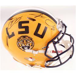 Odell Beckham Jr.  Jarvis Landry Signed LSU Tigers Full-Size Authentic On-Field Speed Helmet (JSA CO