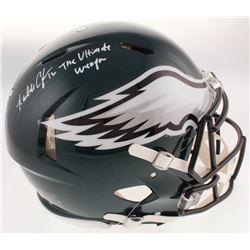 "Randall Cunningham Signed Philadelphia Eagles Full-Size Authentic On-Field Speed Helmet Inscribed ""T"