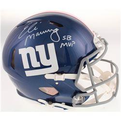"Eli Manning Signed New York Giants Full-Size Authentic On-Field Speed Helmet Inscribed ""SB MVP"" (Fan"