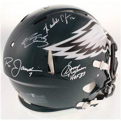 Philadelphia Eagles Full-Size Authentic On-Field Speed Helmet Signed By (4) with Donavan McNabb, Ran