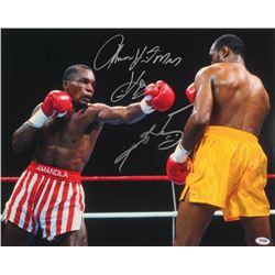 """Thomas """"Hitman"""" Hearns  Sugar Ray Leonard Signed 16x20 Photo (PSA COA)"""
