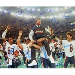 1985 Chicago Bears Super Bowl XX 16x20 Photo Team-Signed by (31) with Mike Ditka, Mike Singletary, W