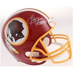 "Sonny Jurgensen Signed Washington Redskins Full-Size Helmet Inscribed ""HOF 83"" (Beckett COA)"