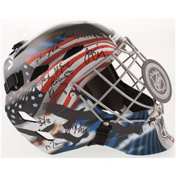 """1980 Team USA """"Miracle On Ice"""" Full-Size Goalie Mask Team-Signed by (18) with Jim Craig, Mike Eruzio"""