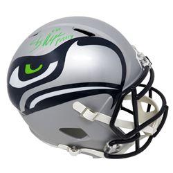 Shaun Alexander Signed Seattle Seahawks Full-Size AMP Alternate Speed Helmet (Schwartz COA)