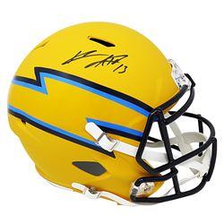 Keenan Allen Signed Los Angeles Chargers Full-Size AMP Alternate Speed Helmet (Schwartz COA)