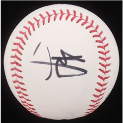 Brad Pitt Signed OML Baseball (PSA COA)