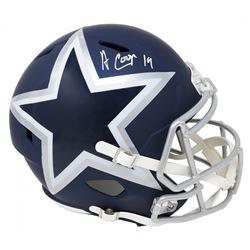 Amari Cooper Signed Dallas Cowboys Full-Size AMP Alternate Speed Helmet (Schwartz COA)