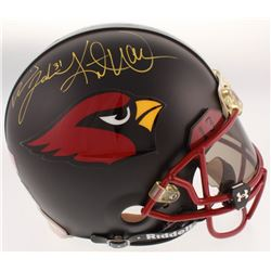 Arizona Cardinals Full-Size Authentic On-Field Helmet Signed by (5) with Kurt Warner, Larry Fitzgera