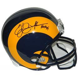 "Eric Dickerson Signed St. Louis Rams Full-Size Throwback Helmet Inscribed ""HOF 99"" (Schwartz COA)"