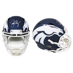 John Elway Signed Denver Broncos Full-Size AMP Alternate Speed Helmet (Schwartz COA)