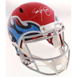 Eddie George Signed Tennessee Titans Full-Size AMP Alternate Speed Helmet (Schwartz COA)