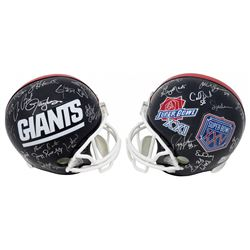 New York Giants Super Bowl XXI  XXV Champions Full-Size Helmet Team-Signed by (28) with Phil Simms,