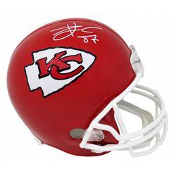 Travis Kelce Signed Kansas City Chiefs Full-Size Helmet (Schwartz COA)