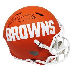 Jarvis Landry Signed Cleveland Browns Full-Size AMP Alternate Speed Helmet (Schwartz COA)