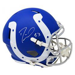 Darius Leonard Signed Indianapolis Colts Full-Size AMP Alternate Speed Helmet (Schwartz COA)