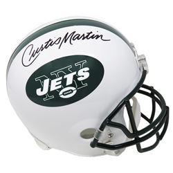 Curtis Martin Signed New York Jets Full-Size Helmet (Schwartz COA)