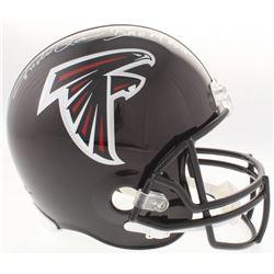 "Andre Rison Signed Atlanta Falcons Full-Size Helmet Inscribed ""Bad Moon"" (Schwartz COA)"
