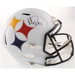 Mason Rudolph Signed Pittsburgh Steelers Full-Size AMP Alternate Speed Helmet (Schwartz COA)