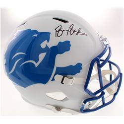 Barry Sanders Signed Detroit Lions Full-Size AMP Alternate Speed Helmet (Schwartz COA)