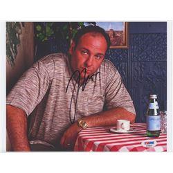 "James Gandolfini Signed ""The Sopranos"" 8.5x11 Photo (PSA COA)"