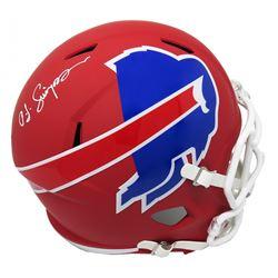 O.J. Simpson Signed Buffalo Bills Full-Size AMP Alternate Speed Helmet (Schwartz COA)