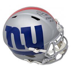 "Phil Simms Signed New York Giants Full-Size AMP Alternate Speed Helmet Inscribed ""SB XXI MVP"" (Schwa"