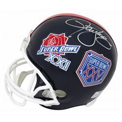 "Lawrence Taylor Signed New York Giants ""Super Bowl XXI  XXV"" Full-Size Throwback Helmet (Schwartz CO"