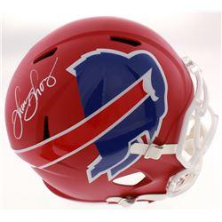 Thurman Thomas Signed Buffalo Bills Full-Size AMP Alternate Speed Helmet (Schwartz COA)