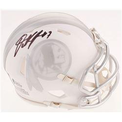 Dwayne Haskins Signed Washington Redskins White ICE Speed Mini Helmet (Beckett COA)