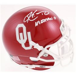 "Kyler Murray Signed Oklahoma Sooners Mini Helmet Inscribed ""Heisman 18"" (Beckett COA)"