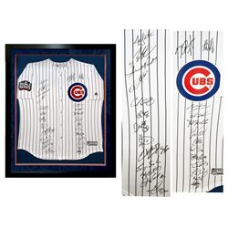 2016 Chicago Cubs World Series 35x42 Custom Framed Jersey Display Team-Signed by (26) with Kris Brya