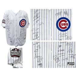 2016 World Series LE Chicago Cubs Jersey Team-Signed by (26) with Kris Bryant, Anthony Rizzo, Ben Zo