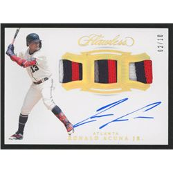Ronald Acuna Jr. 2019 Panini Flawless Triple Patch Signatures Gold #6