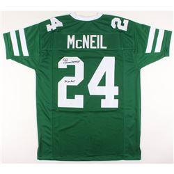 "Freeman McNeil Signed Jersey Inscribed ""3x Pro Bowl"" (JSA COA)"