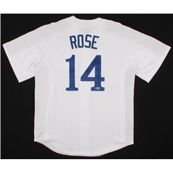 """Pete Rose Signed Montreal Expos Jersey Inscribed """"4256"""" (Beckett COA)"""