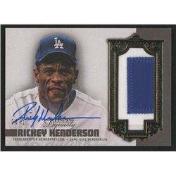 Rickey Henderson 2019 Topps Dynasty Autograph Patches #APRH2