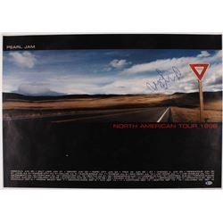 Mike McCready Signed 23.5x30.5 Pearl Jam Yield Tour Poster (Beckett COA)