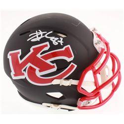 Travis Kelce Signed Kansas City Chiefs AMP Alternate Speed Mini Helmet (Beckett COA)