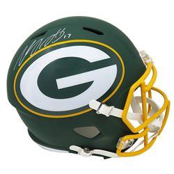 Davante Adams Signed Green Bay Packers Full-Size AMP Alternate Speed Helmet (Schwartz COA)